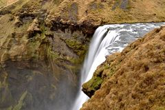 Vattenfall för Skà ³gafoss fotografering för bildbyråer