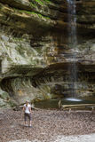 Vattenfall för St Louis Canyon Arkivbilder