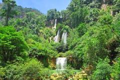 Vattenfall för T Lor Su, hm Phang, Tak, Thailand Royaltyfria Foton