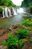 vattenfall för tad för suam för champasaklaos pha Royaltyfri Fotografi