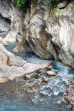 vattenfall för trail för baiyangklyftataroko Arkivbild