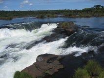 vattenfall för argentina brazil jäkelhals Royaltyfri Fotografi