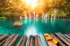 vattenfall för plitvice för croatia lakesnationalpark sostavtsy Royaltyfri Fotografi