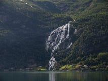 Vattenfall Gjerdfoss Fotografering för Bildbyråer