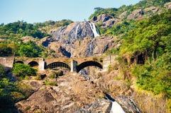 Vattenfall Goa, Indien Royaltyfri Foto