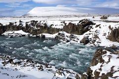 Vattenfall Godafoss, Island Arkivbild