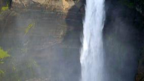 Vattenfall Haifoss, Island stock video
