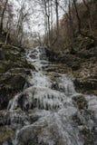 Vattenfall i is Royaltyfri Fotografi