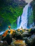 Vattenfall i banyumascentralen java fotografering för bildbyråer