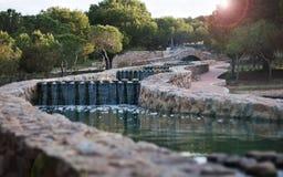 Vattenfall i Cedar Grove Arkivfoton