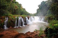 Vattenfall i Champasak, Laos Arkivfoto