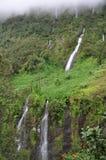 Vattenfall i Cirque de Salazie, Reunion Island Arkivfoto
