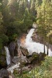 Vattenfall i de tyrolean alpsna Royaltyfria Foton