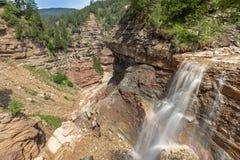 Vattenfall i den Bletterbach klyftan Royaltyfri Bild