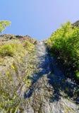 Vattenfall i den Caldera de Taburiente nationalparken på La Palma arkivbild