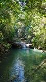 Vattenfall i den Erawan nationalparken Royaltyfri Bild