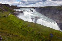 Vattenfall i den guld- cirkeln av Island Royaltyfria Foton