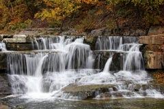 Vattenfall i den Taughannock delstatsparken Arkivfoto