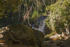 Vattenfall i djungeln, Chiang Mai Fotografering för Bildbyråer
