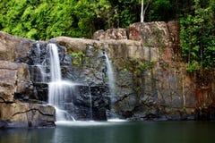 Vattenfall i djungeln, Thailand Fotografering för Bildbyråer