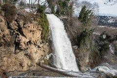 Vattenfall i Edessa, Grekland arkivfoton