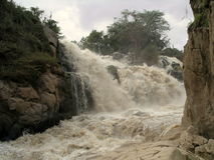 Vattenfall i Etiopien Arkivbild