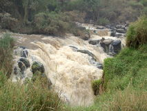 Vattenfall i Etiopien Arkivfoton