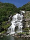Vattenfall i Geirngerfjord Royaltyfri Bild