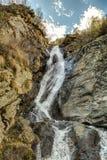Vattenfall i Gressoney Royaltyfri Bild