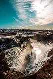 Vattenfall i Island royaltyfri foto