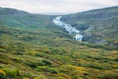 Vattenfall i Island Arkivbilder