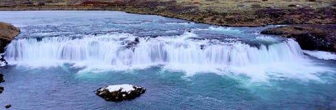 Vattenfall i Island Arkivbild