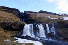 Vattenfall i Island Arkivfoto