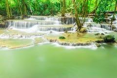 Vattenfall i Kanchanaburi Arkivfoto