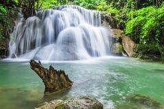 Vattenfall i Kanchanaburi Fotografering för Bildbyråer
