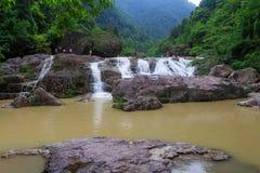 Vattenfall i Kina Arkivbilder