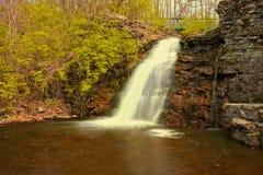 Vattenfall i lång exponering Arkivbild