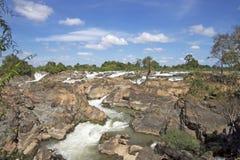 Vattenfall i Laos arkivbilder