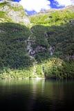 Vattenfall i Lysefjorden Royaltyfri Fotografi