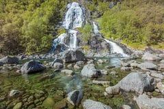 Vattenfall i Norge Arkivfoton