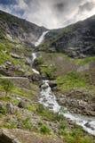 Vattenfall i Norge sommarlopp Royaltyfria Bilder