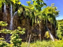 Vattenfall i Plitvice Royaltyfri Fotografi