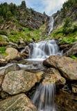 Vattenfall i Rila berg Fotografering för Bildbyråer
