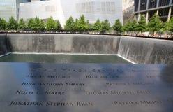 Vattenfall i September 11 Memorial Park Royaltyfria Foton