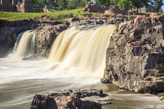 Vattenfall i Sioux Falls, South Dakota, USA Arkivfoto
