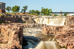Vattenfall i Sioux Falls, South Dakota, USA Royaltyfri Foto