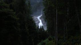 Vattenfall i skogen Royaltyfri Fotografi