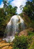 Vattenfall i Soroa, Kuba royaltyfria foton