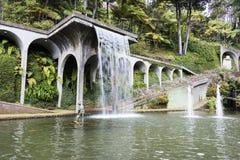Vattenfall i tripcal trädgårds- Monte Madeira Royaltyfri Bild