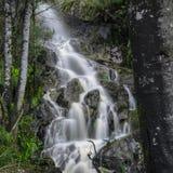 Vattenfall i vaggaberg Arkivbild